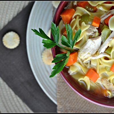 20-Minute Loaded Chicken Noodle Soup