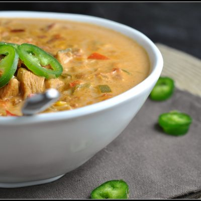 4th Annual Chili Contest – Entry #5: Jalapeno Popper Chicken Chili + Weekly Menu