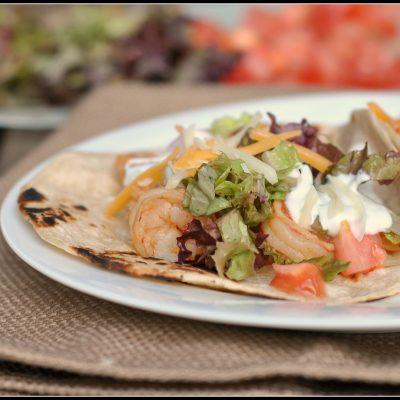 Shrimp Tacos with Jalapeno Ranch Sauce + Weekly Menu