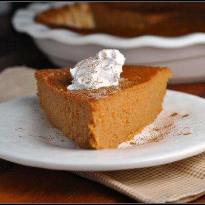 Meatless Monday and Recipe Repeat: Crustless Pumpkin Pie