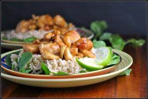 Slow Cooker Cashew Chicken + Weekly Menu