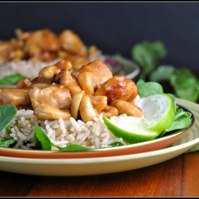 Slow Cooker Cashew Chicken + Weekly Menu