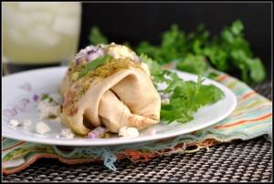 Chicken Enchiladas with Poblano Sauce + Weekly Menu