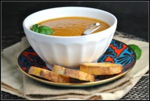 Roasted Tomato Soup with Goat Cheese 3