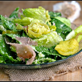 Italian Salad with Prosciutto, Peperoncini, and Parmesan 1