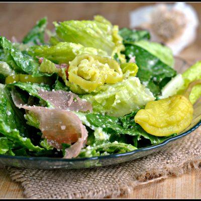 Italian Salad with Prosciutto, Peperoncini, and Parmesan + Weekly Menu