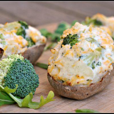 Broccoli and Cheddar-Stuffed Baked Potatoes