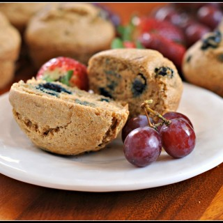 Healthy Whole Wheat Blueberry Muffins 3
