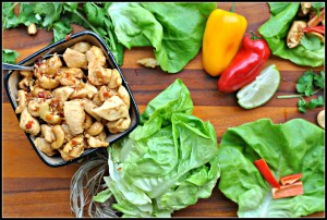 Cashew Chicken Lettuce Wraps + Weekly Menu
