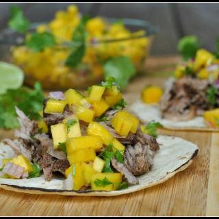 Caribbean Pork Tacos with Mango Salsa