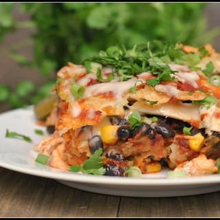 Chicken Enchilada Casserole + Weekly Menu