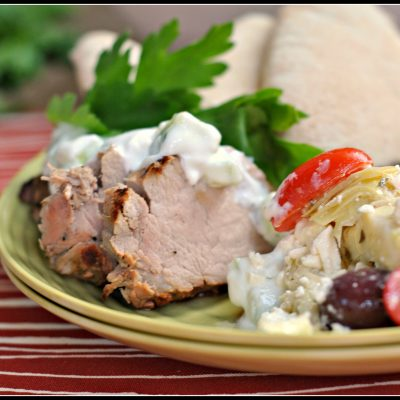 Greek Pork Tenderloin + Weekly Menu