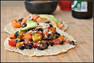 Roasted Vegetable and Black Bean Tacos 4
