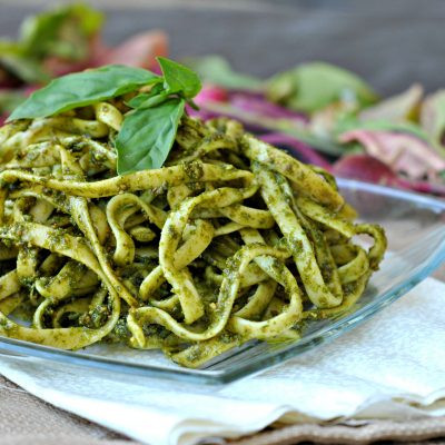 Arugula-Basil Pesto + Weekly Menu