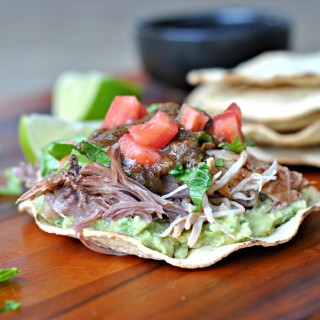 Avocado and Carnitas Tostadas