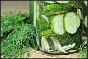 Easy Garlic Dill Refrigerator Pickles + Weekly Menu
