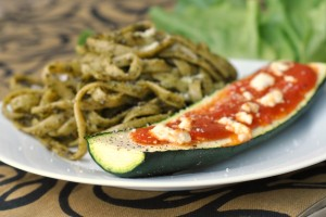 Goat Cheese and Marinara-Stuffed Zucchini 1