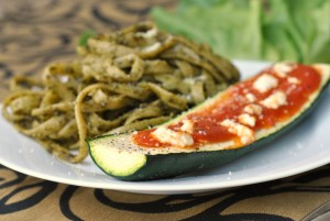 Goat Cheese and Marinara-Stuffed Zucchini + Weekly Menu