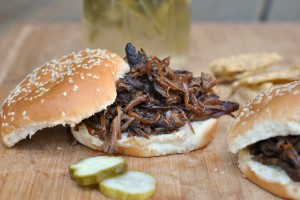 Slow Cooker Pulled Pork with Bourbon-Peach Barbecue Sauce 4