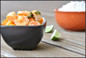 Thai Red Curry with Shrimp and Mango 4