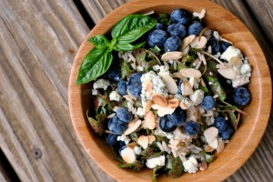 Blueberry Arugula Salad with Brown Rice 2