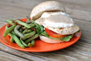 Chicken Caesar Burger + Weekly Menu