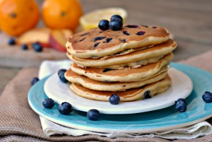 Lemon Blueberry Pancakes + Weekly Menu