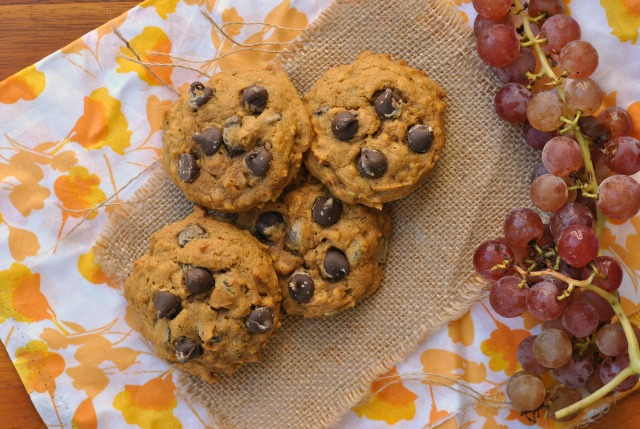 Pumpkin Oat Chocolate Chip Cookies 2