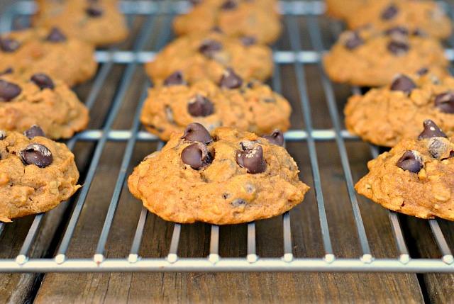 Pumpkin Oat Chocolate Chip Cookies 3