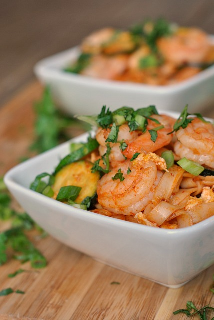 Spicy Sriracha Shrimp and Zucchini Lo Mein 1