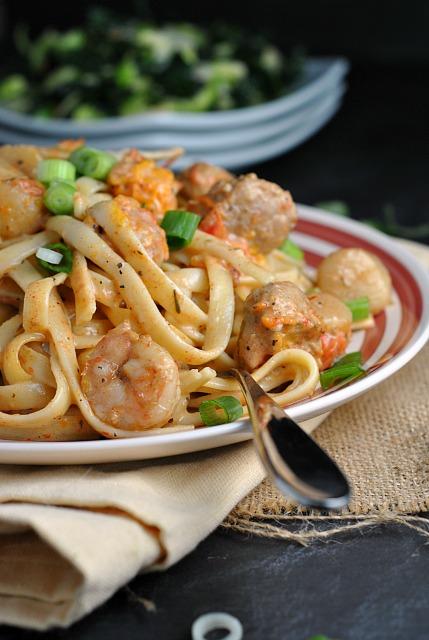 Blackened Seafood Pasta 1