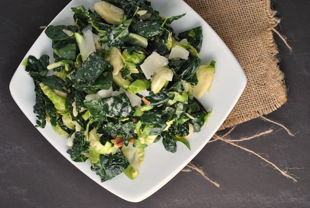 Massaged Kale and Brussels Sprouts Salad 2