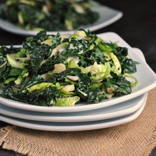 Massaged Kale and Brussels Sprouts Salad 3