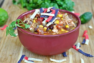 Slow Cooker Chicken Enchilada Soup 3