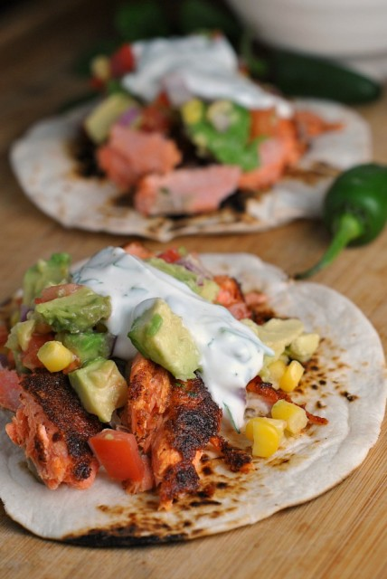 Blackened Salmon Tacos 1