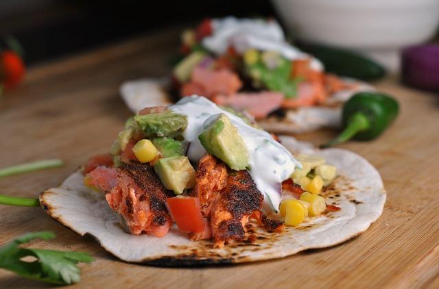 Blackened Salmon Tacos 3