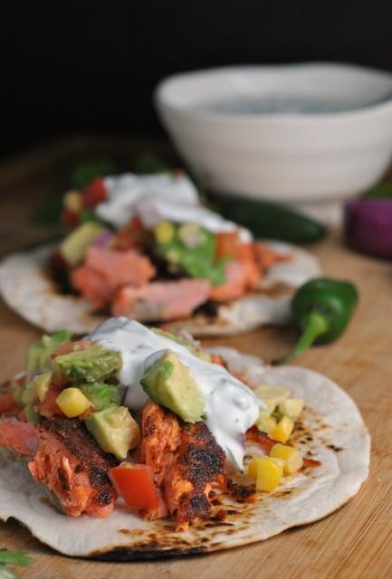 Blackened Salmon Tacos 4