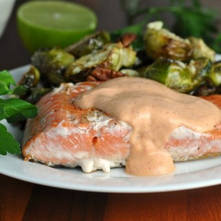 Pan Seared Salmon with Creamy Sriracha