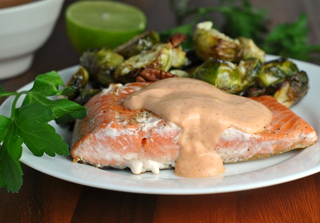 Pan Seared Salmon with Creamy Sriracha 4