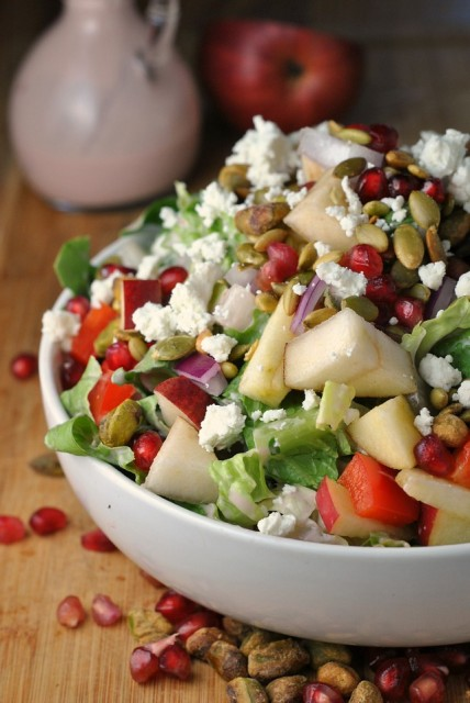 Pomegranate, Pear, and Pistachio Salad 1