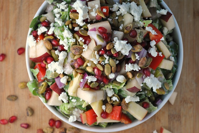 Pomegranate, Pear, and Pistachio Salad 2