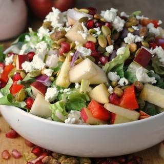 Pomegranate, Pear, and Pistachio Salad 3