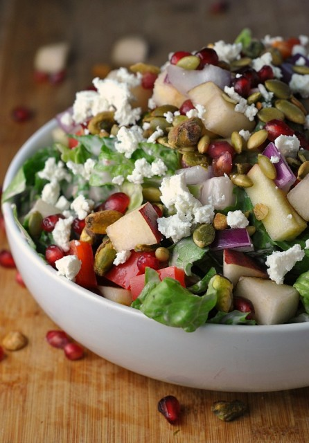 Pomegranate, Pear, and Pistachio Salad 4