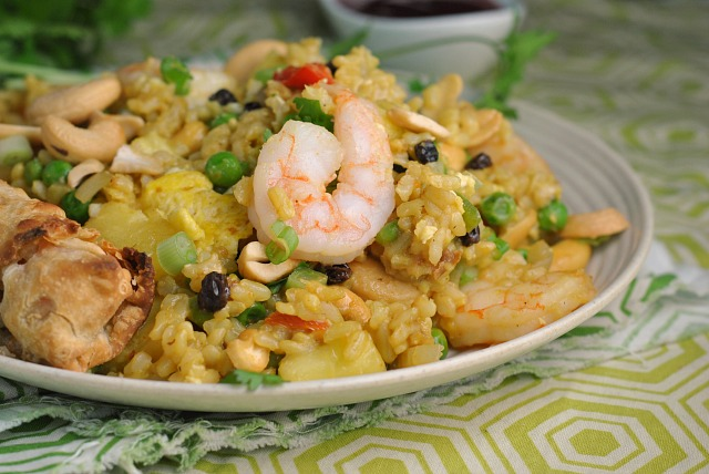 Shrimp and Pineapple Curry Fried Rice 2