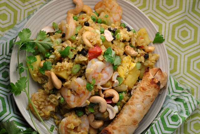 Shrimp and Pineapple Curry Fried Rice 3