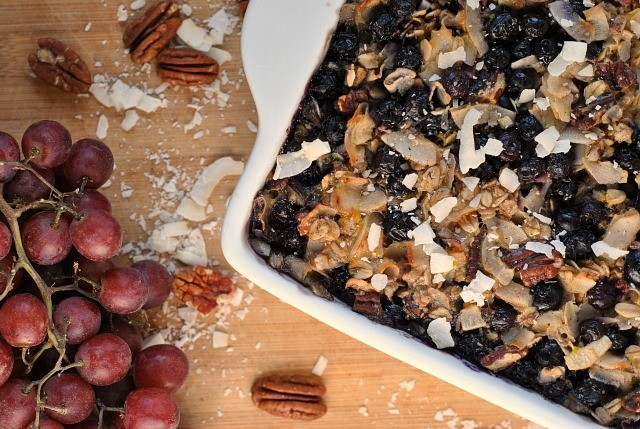 Blueberry Coconut Baked Oatmeal 3