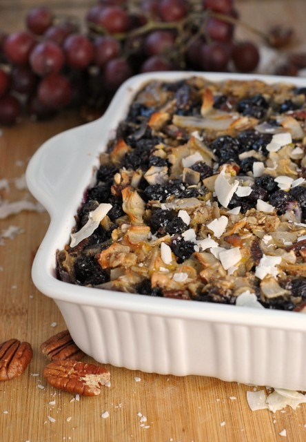 Blueberry Coconut Baked Oatmeal 4