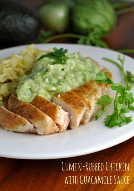 Cumin-Rubbed Chicken with Guacamole Sauce 1