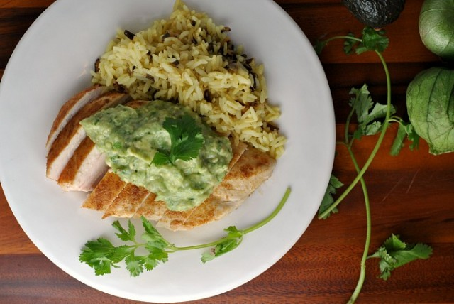 Cumin-Rubbed Chicken with Guacamole Sauce 2