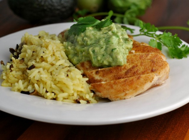 Cumin-Rubbed Chicken with Guacamole Sauce 3